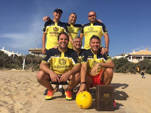 Meci de fotbal între campionii olimpici ai presei și selecționata Alexandrion Grup